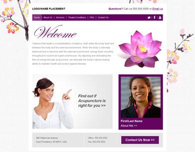 Website Designs: Acupuncture Websites | Website templates for ...